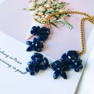 J. Crew Navy Stone Necklace